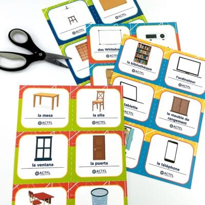 Free Printable World Language Labels for School and Home