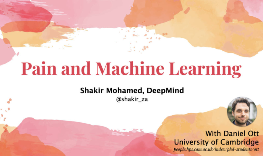 Pain and Machine Learning